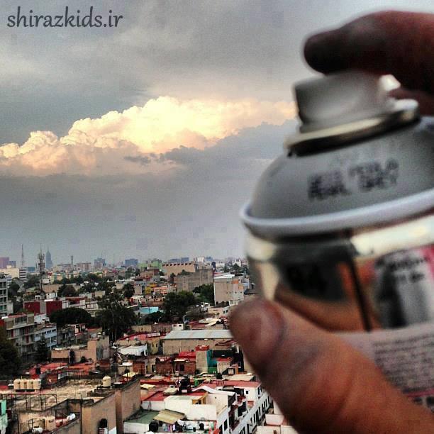 خلاقیت با اسپری (عکس با جالب)